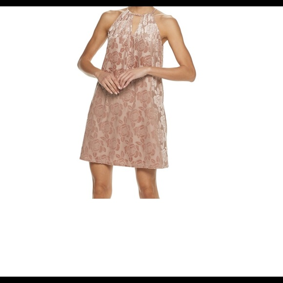 Candie's Dresses & Skirts - Candie's pleated floral high neck dress